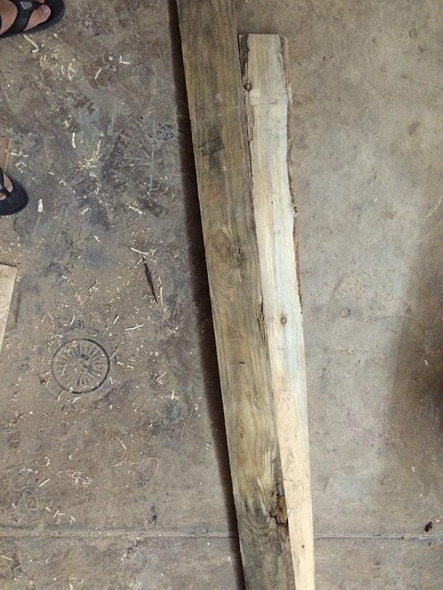 gỗ thô chưa xử lý